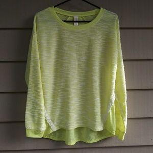 Yellow long sleeve sweater blouse large